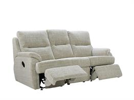 Captivating Hartford Fabric 3 Seater Double Recliner
