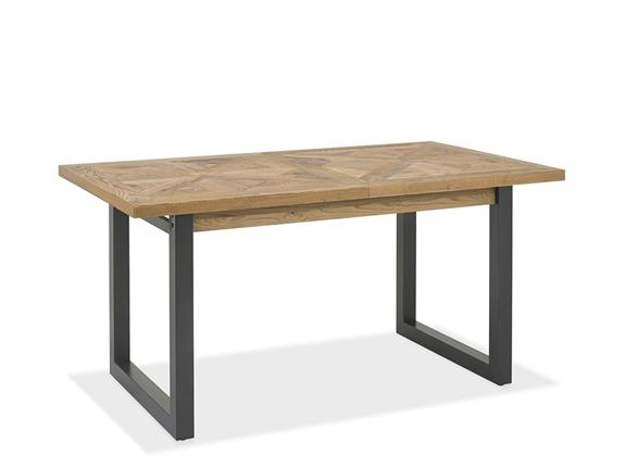 Dining Room Forged Rustic Oak 4 6ft Extending Dining Table Buy At Lucas Furniture Alyesbury