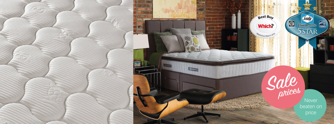 Sealy Living Room Furniture.  Best mattress tested in years by Which Sealy Beds and Mattresses Buy at Lucas Furniture Alyesbury