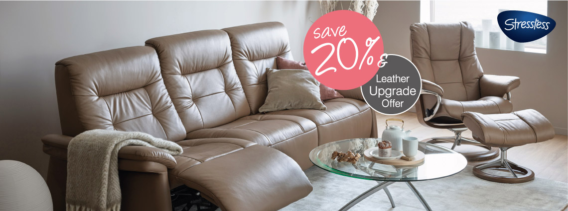 Free leather upgrade and 20% Off
