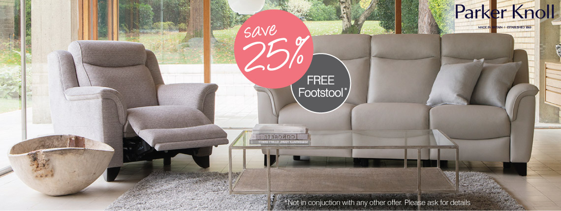 25% Off and Free Footstool